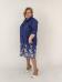 Рубашка-платье, джинс синий (Smart-Woman, Россия) — размеры 60-62, 64-66, 68-70, 72-74, 76-78
