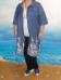 Рубашка-платье, джинс синий (Smart-Woman, Россия) — размеры 60-62, 64-66