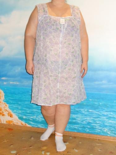 Сорочка (Срч02-06) сиреневые цветы (Smart-Woman, Россия) — размеры 60-62, 64-66, 68-70, 72-74